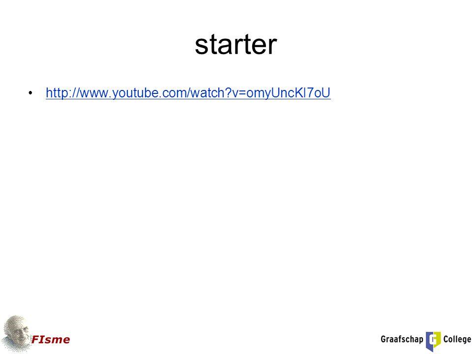 starter http://www.youtube.com/watch?v=omyUncKI7oU