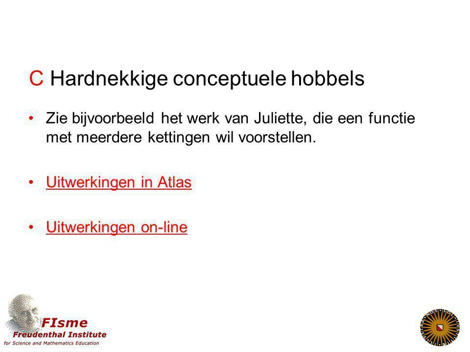C Hardnekkige conceptuele hobbels Zie bijvoorbeeld het werk van Juliette, die een functie met meerdere kettingen wil voorstellen.