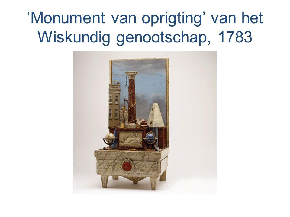 'Monument van oprigting' van het Wiskundig genootschap, 1783