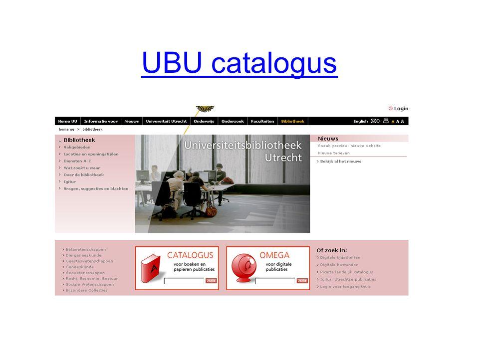 UBU catalogus