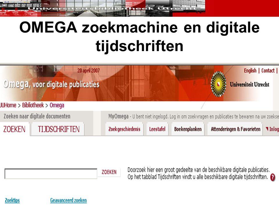 OMEGA zoekmachine en digitale tijdschriften