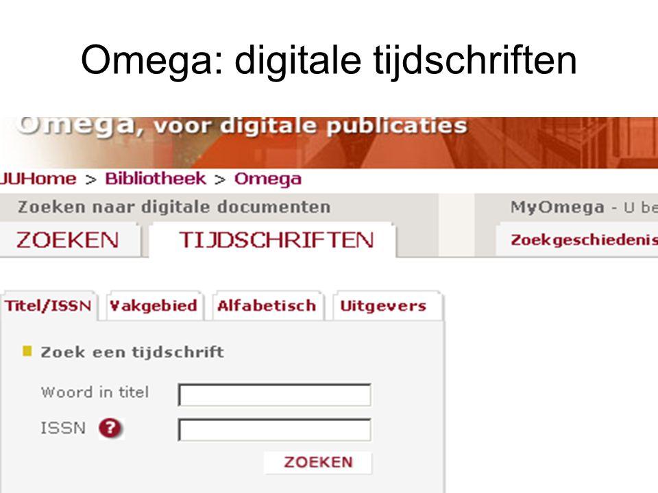 Omega: digitale tijdschriften