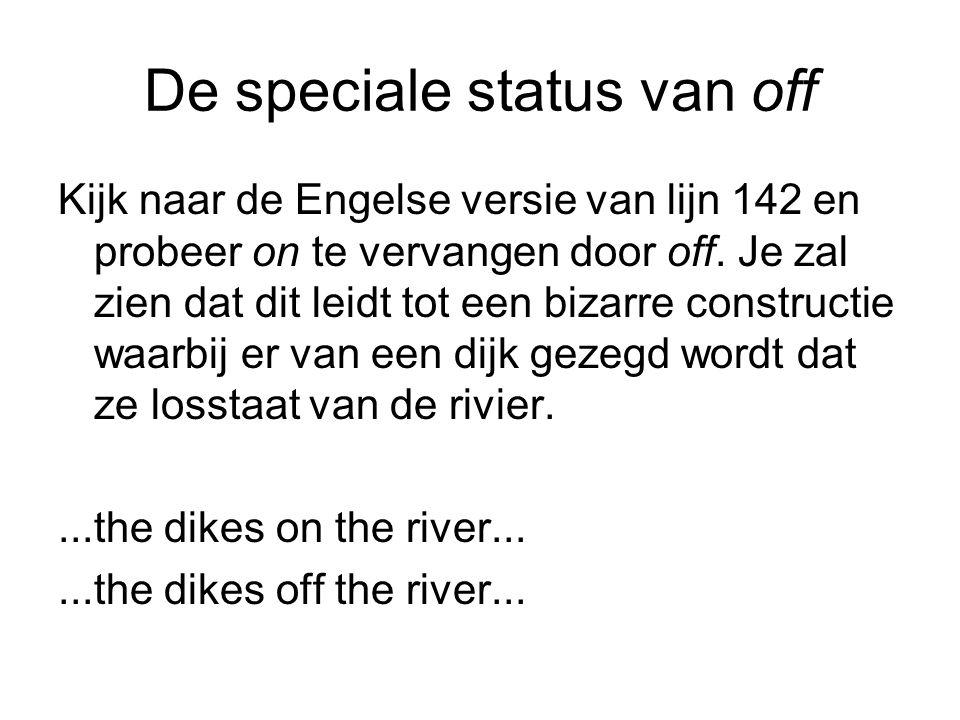 De speciale status van off Kijk naar de Engelse versie van lijn 142 en probeer on te vervangen door off.