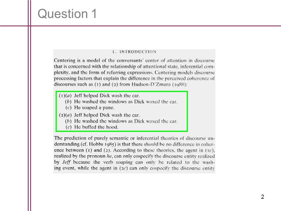 2 Question 1
