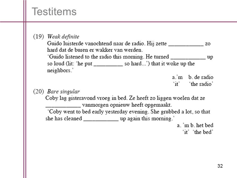 32 Testitems