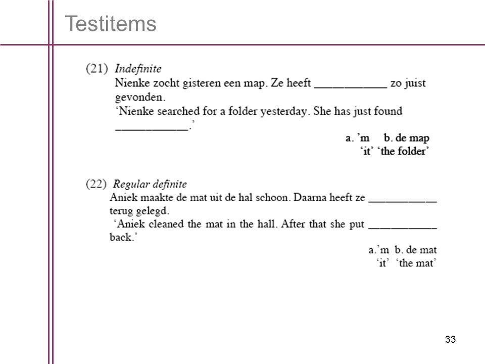 33 Testitems