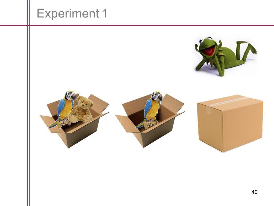 40 Experiment 1