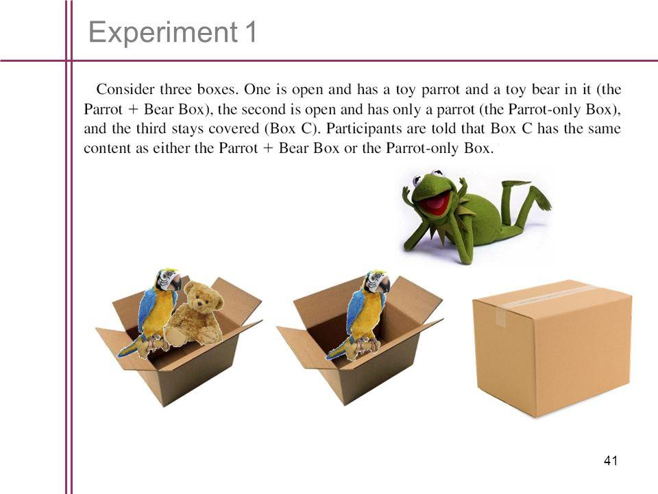 41 Experiment 1