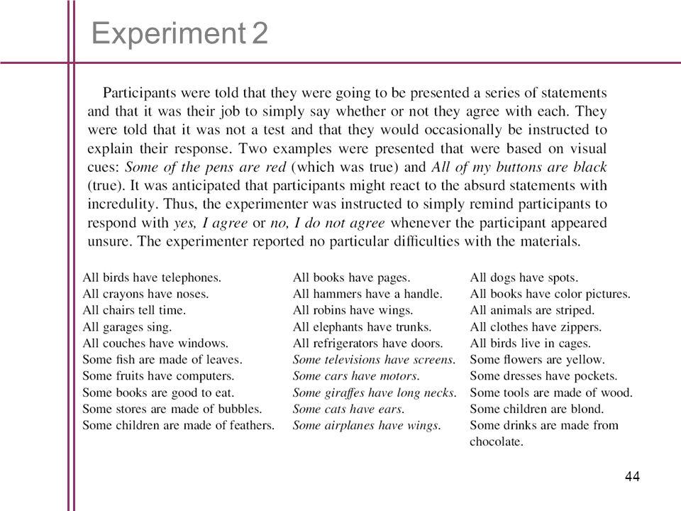 44 Experiment 2
