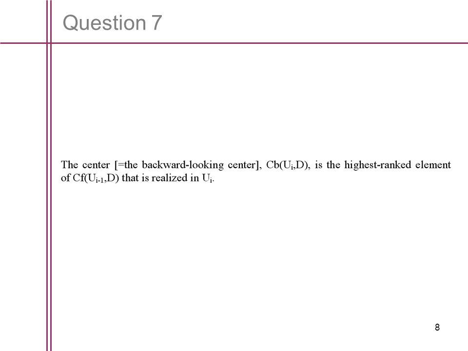 9 Question 8