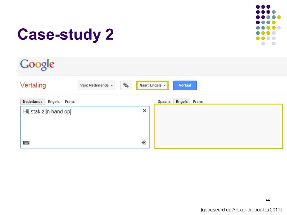 44 Case-study 2 [gebaseerd op Alexandropoulou 2011]