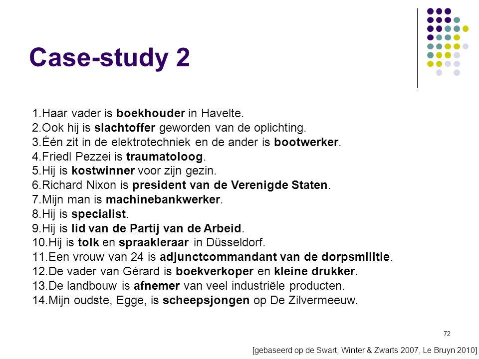 72 Case-study 2 1.Haar vader is boekhouder in Havelte.