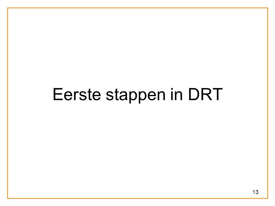 13 Eerste stappen in DRT
