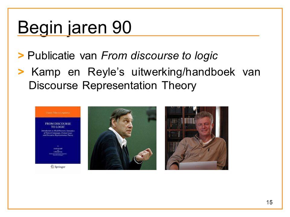 15 Begin jaren 90 > Publicatie van From discourse to logic > Kamp en Reyle's uitwerking/handboek van Discourse Representation Theory