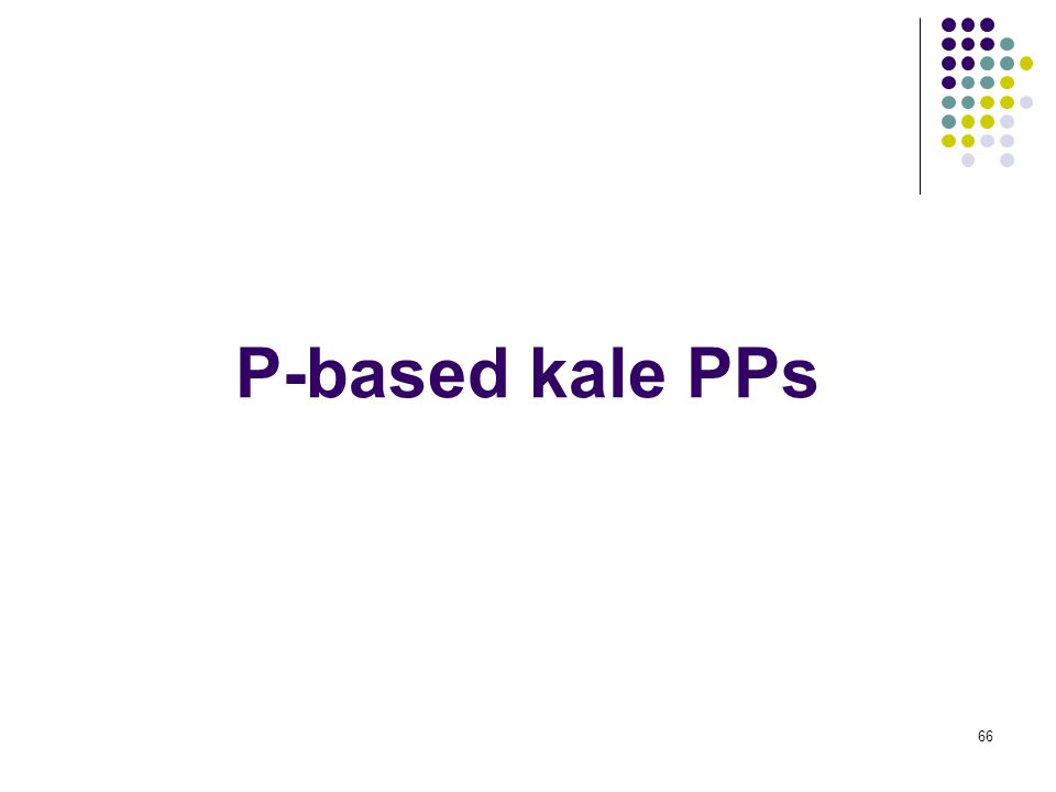 66 P-based kale PPs