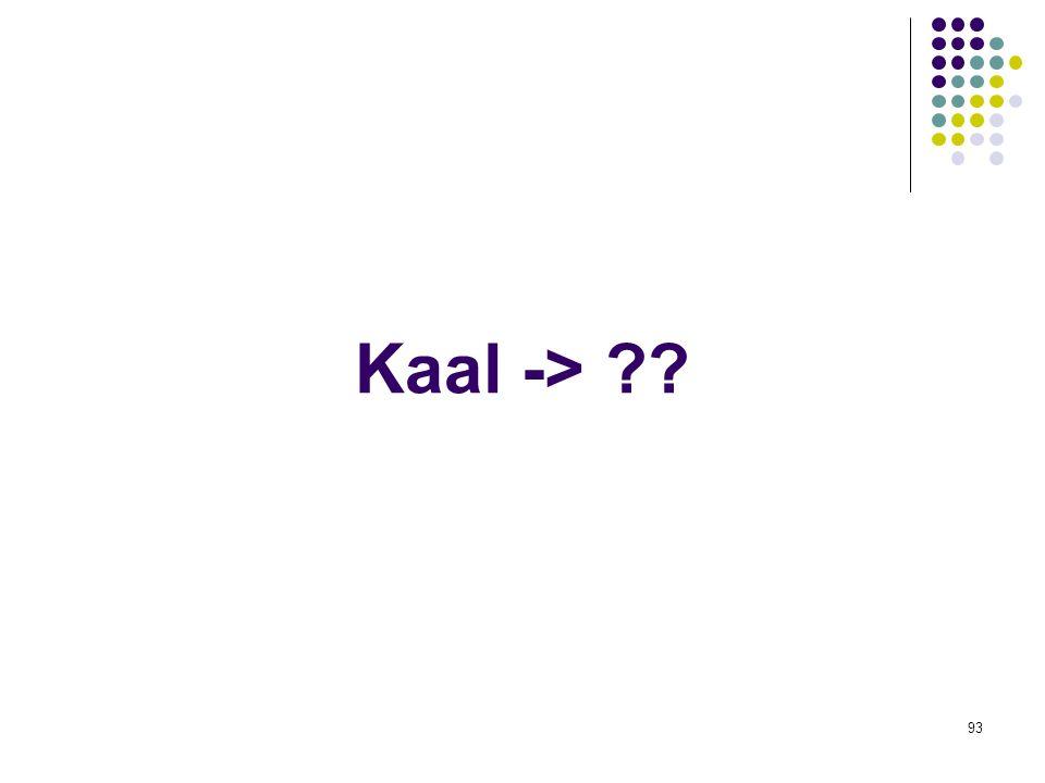 93 Kaal -> ??