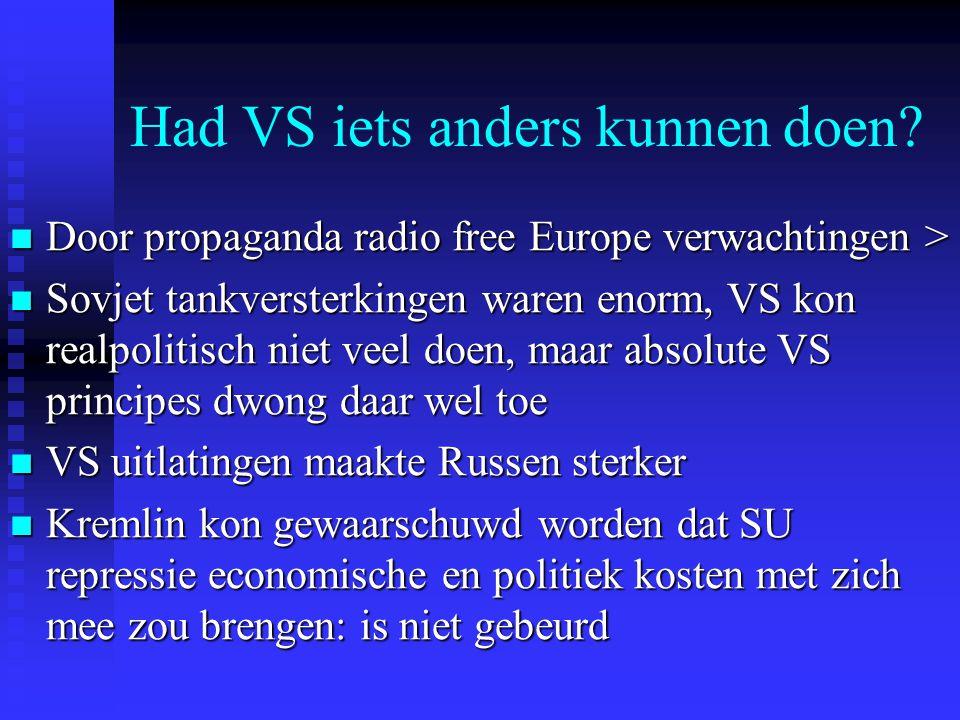 Had VS iets anders kunnen doen? Door propaganda radio free Europe verwachtingen > Door propaganda radio free Europe verwachtingen > Sovjet tankverster