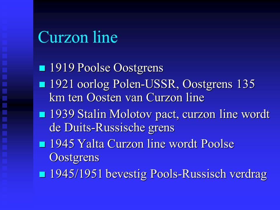 Curzon line 1919 Poolse Oostgrens 1919 Poolse Oostgrens 1921 oorlog Polen-USSR, Oostgrens 135 km ten Oosten van Curzon line 1921 oorlog Polen-USSR, Oo