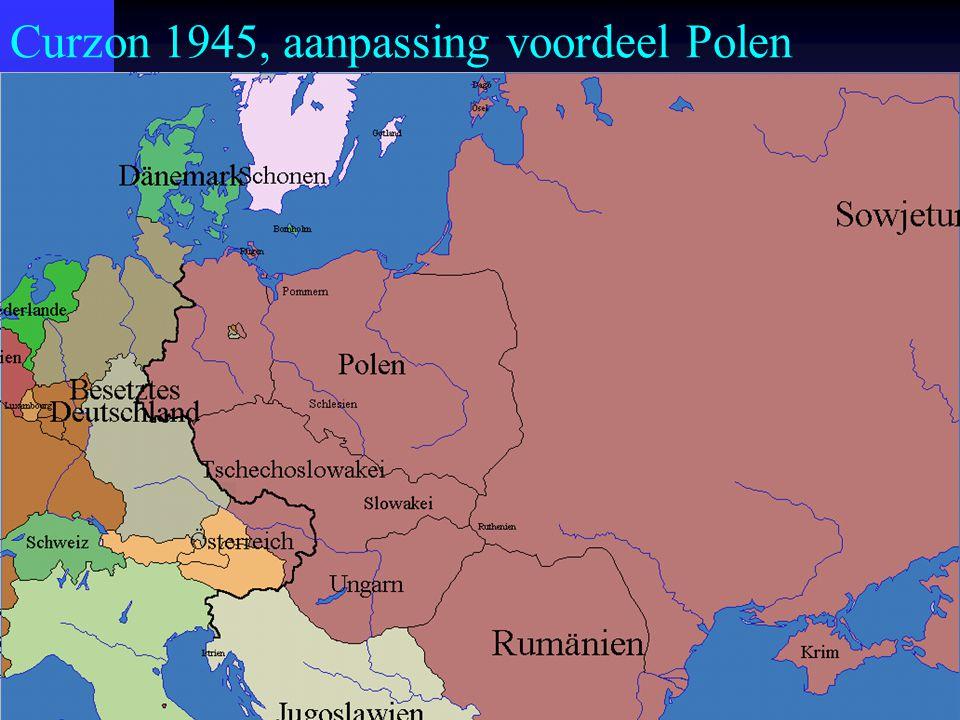 Curzon 1945, aanpassing voordeel Polen