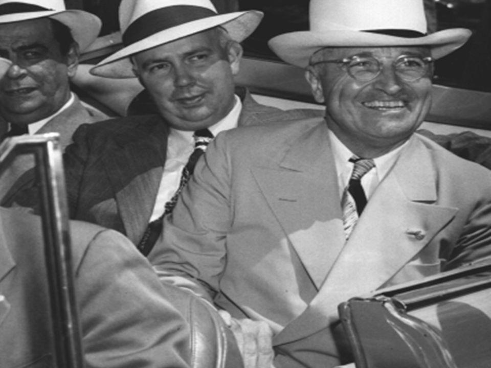 Truman 1884-1972 President van 1945-1953 President van 1945-1953 WO II, Koude Oorlog, Korea oorlog WO II, Koude Oorlog, Korea oorlog Vice-president 20 januari 1945 Vice-president 20 januari 1945 Roosevelt sterft 12 april 1945 Roosevelt sterft 12 april 1945 Geen ervaring buitenlandse politiek Geen ervaring buitenlandse politiek