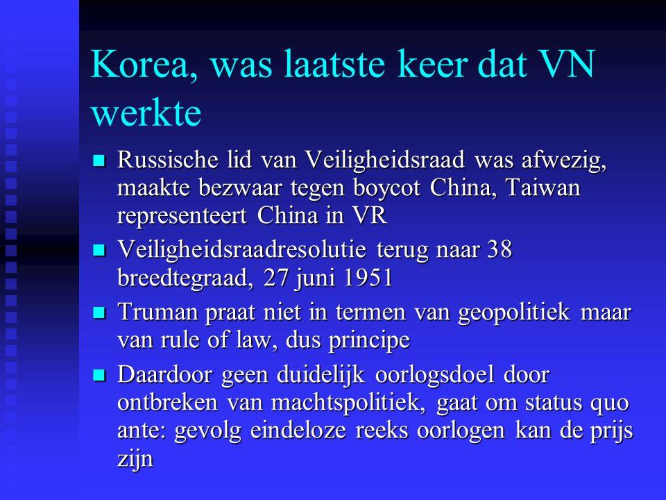 Korea, was laatste keer dat VN werkte Russische lid van Veiligheidsraad was afwezig, maakte bezwaar tegen boycot China, Taiwan representeert China in