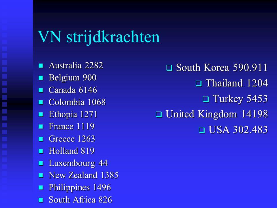 VN strijdkrachten Australia 2282 Australia 2282 Belgium 900 Belgium 900 Canada 6146 Canada 6146 Colombia 1068 Colombia 1068 Ethopia 1271 Ethopia 1271