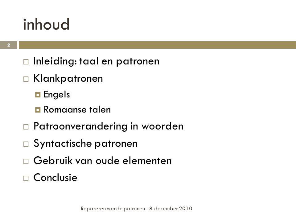 Patroonverandering in woorden  Verleden tijd in Engels.