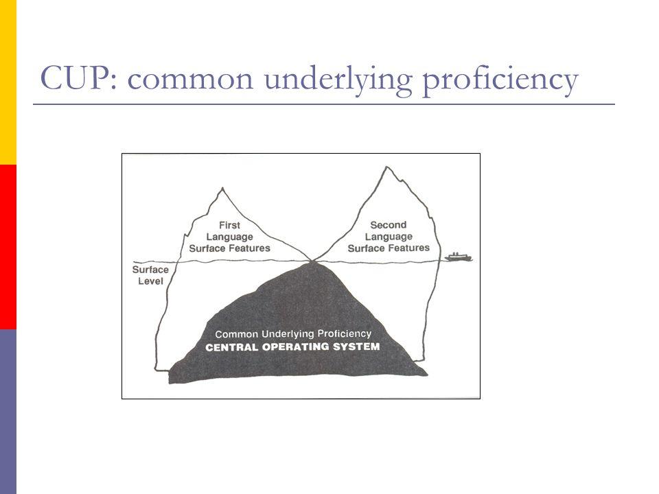CUP: common underlying proficiency