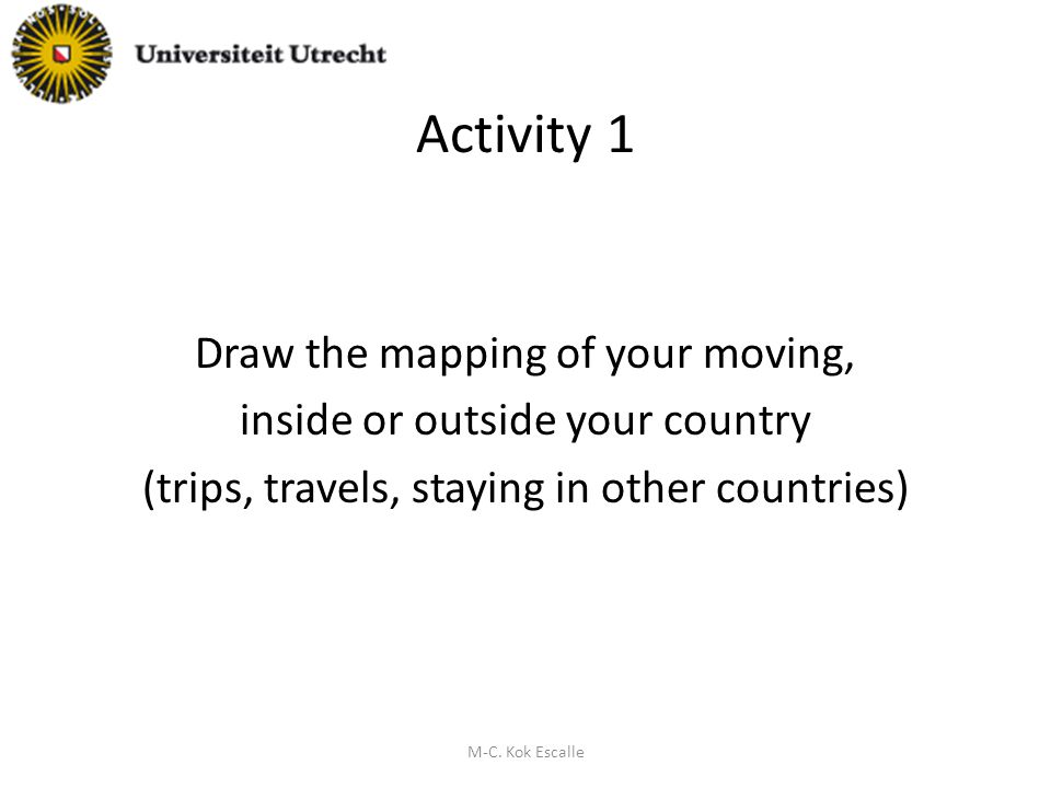 Activity 2 Qualify (with keywords) your feelings and the image you had/have of the other and the one the other had of you [in the different places] M-C.