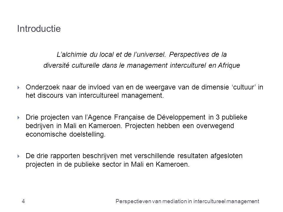 Vragen? 25Perspectieven van mediation in intercultureel management