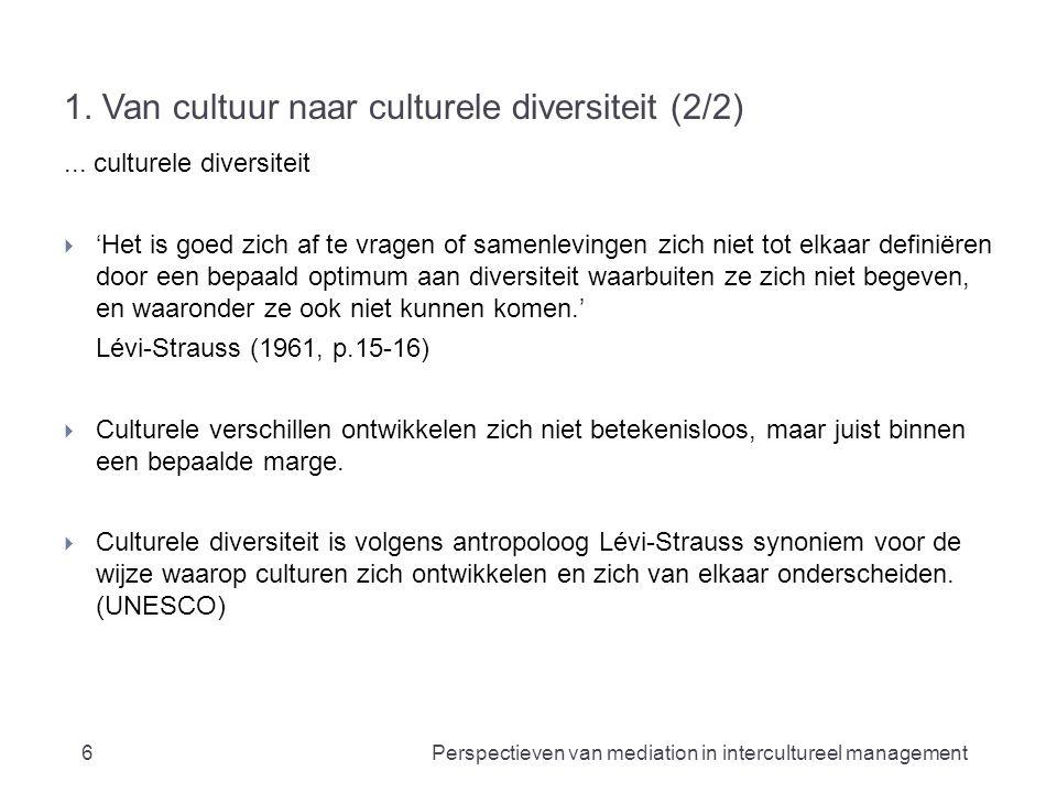 1. Van cultuur naar culturele diversiteit (2/2)...