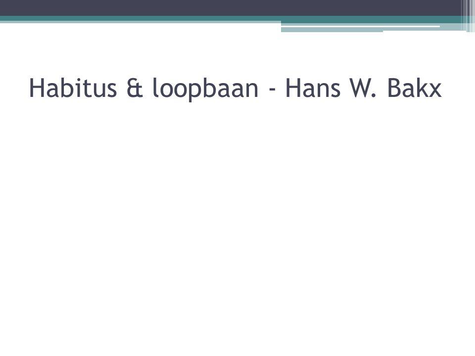 Habitus & loopbaan - Hans W. Bakx