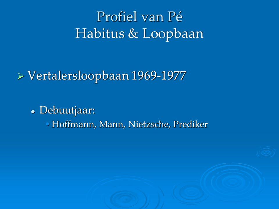  Vertalersloopbaan 1969-1977 Debuutjaar: Debuutjaar: Hoffmann, Mann, Nietzsche, PredikerHoffmann, Mann, Nietzsche, Prediker