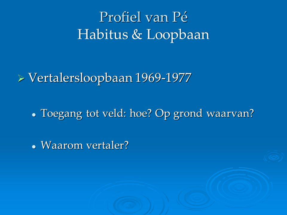  Vertalersloopbaan 1969-1977 Toegang tot veld: hoe.