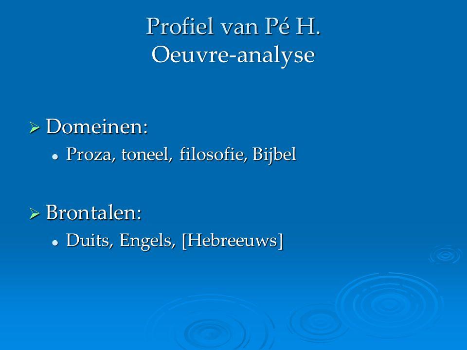 Profiel van Pé H.