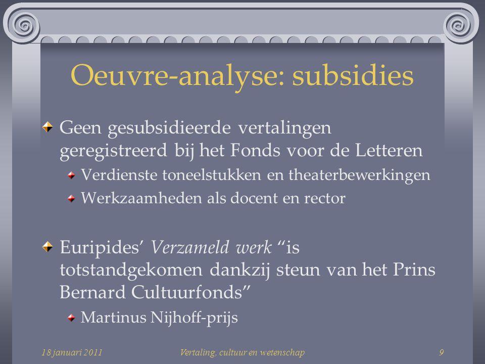 18 januari 2011Vertaling, cultuur en wetenschap40 Bibliografie Steenhuis, Peter Henk.