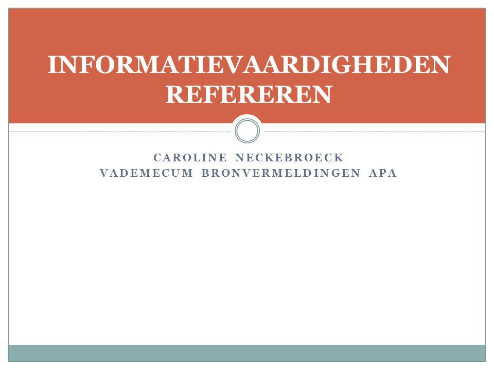 Elektronische bronnen zonder doi-code  Online artikelen uit magazines  URL Magazine  Van Maris, B.