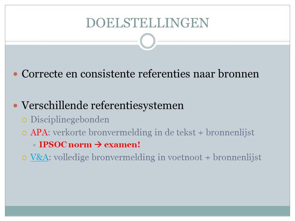 SPECIALE GEVALLEN Persoonlijke communicatie  B.Wydooghe en L.