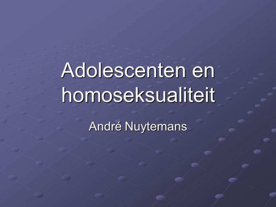 Adolescenten en homoseksualiteit André Nuytemans