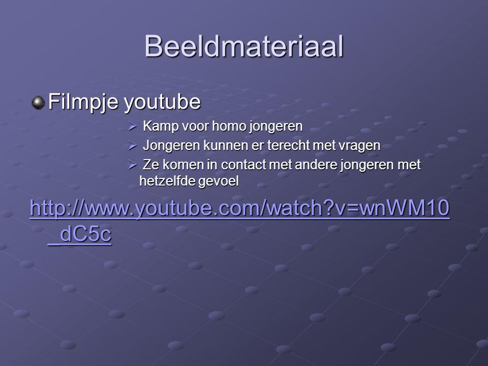 Beeldmateriaal Filmpje youtube  Kamp voor homo jongeren  Jongeren kunnen er terecht met vragen  Ze komen in contact met andere jongeren met hetzelf