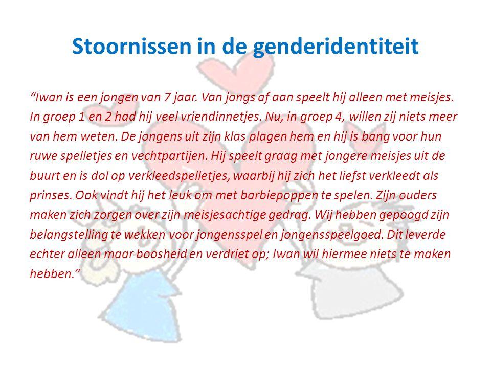 Stoornissen in de genderidentiteit Iwan is een jongen van 7 jaar.