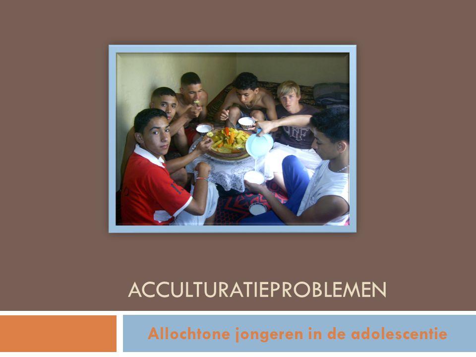 ACCULTURATIEPROBLEMEN Allochtone jongeren in de adolescentie