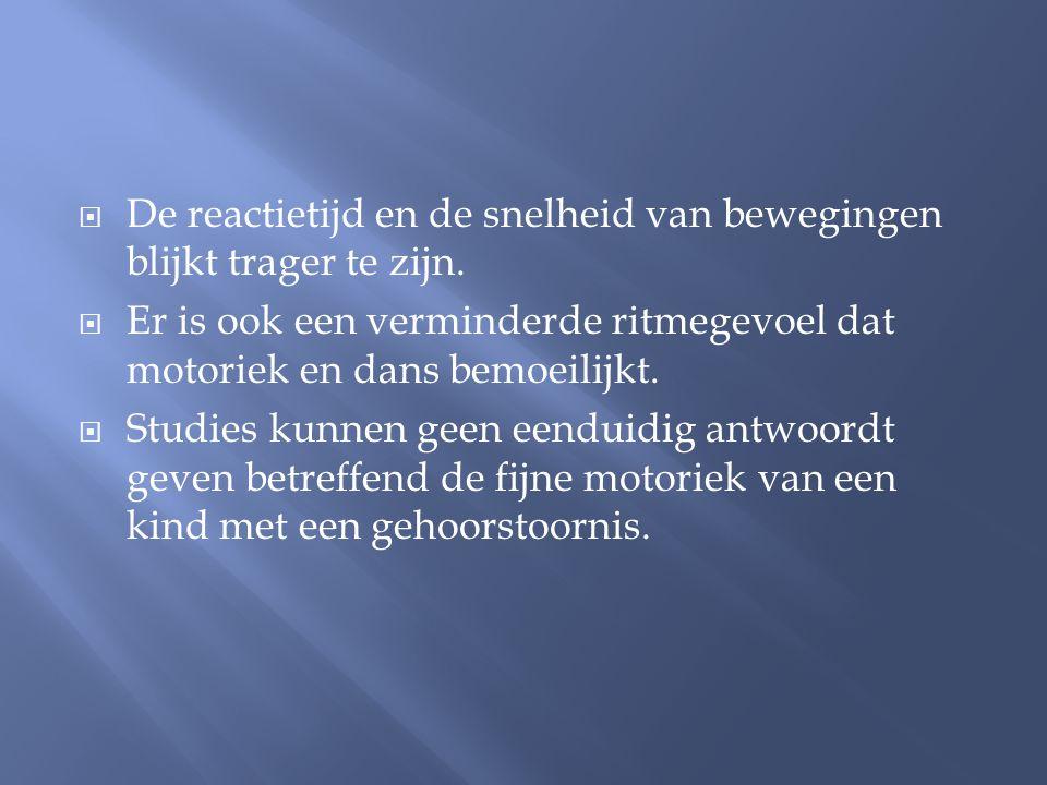  Mogelijke verklaringen voor de motorische achterstand: - Organische factoren, bv.
