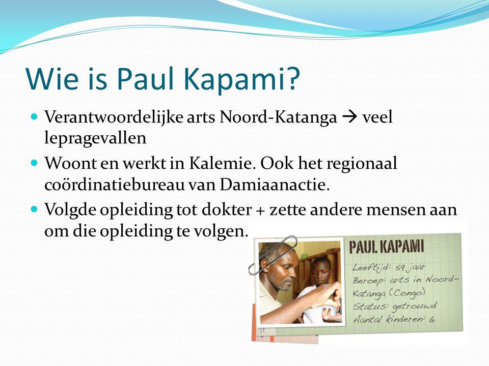 Inhoudsopgave Wie is Paul Kapami Mulunguzi Werking organisatie Fondsenwerving