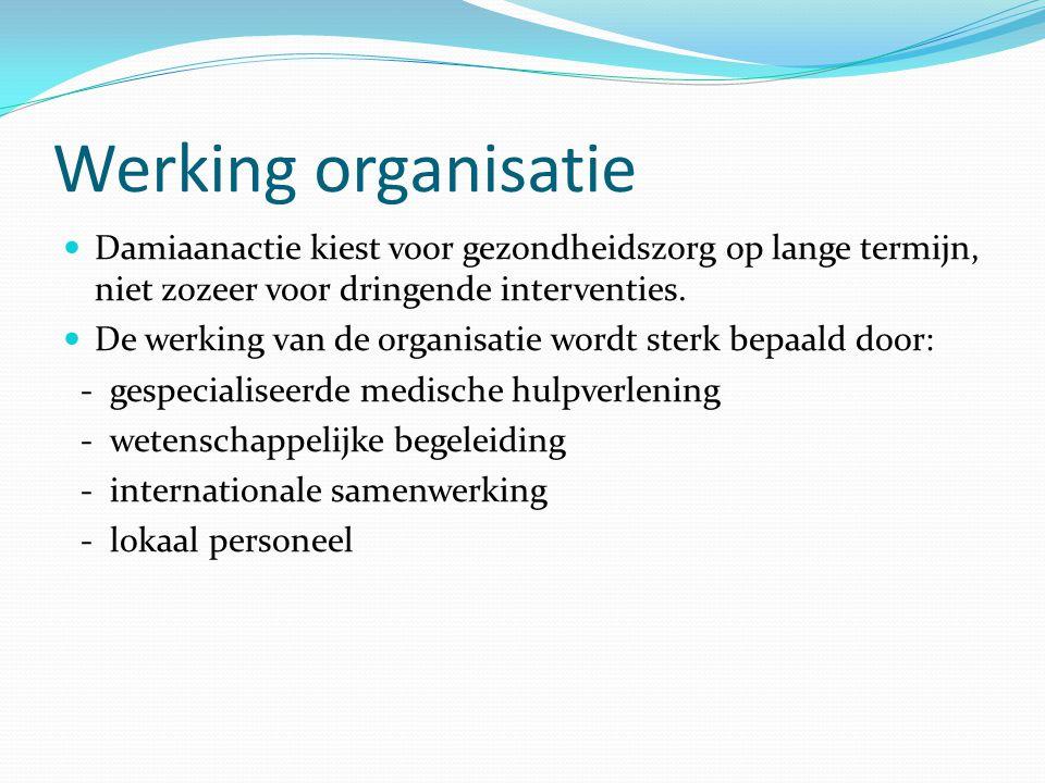 Werking organisatie Damiaanactie kiest voor gezondheidszorg op lange termijn, niet zozeer voor dringende interventies.
