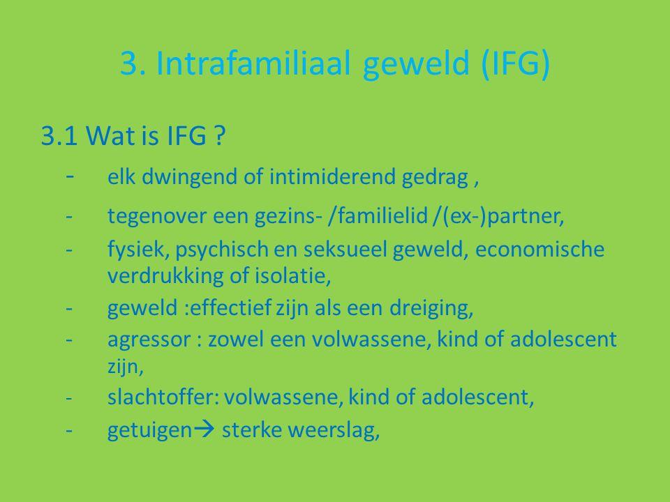 3. Intrafamiliaal geweld (IFG) 3.1 Wat is IFG .