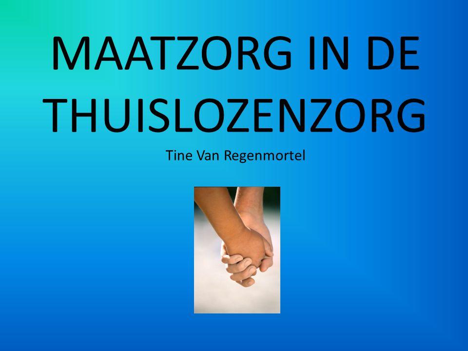 Inleiding: Maatzorg = een methodiek voor begeleiden van kansarmen Waarom term 'maatzorg'.