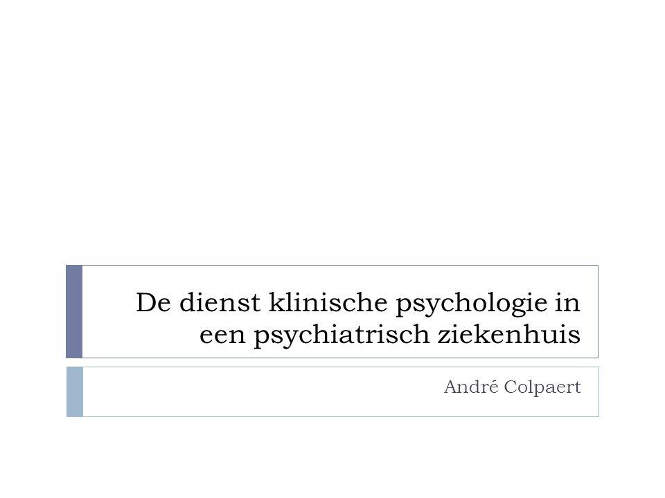 Inleiding Verschillen in inschakeling van klinisch psychologen  Interdisciplinair samenwerken in een divisionele structuur van het ziekenhuis  Als een autonome dienst in het ziekenhuis Reden van verschillen.