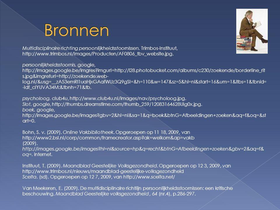 Multidisciplinaire richting persoonlijkheidsstoornissen. Trimbos-Instituut, http://www.trimbos.nl/Images/Producten/AF0806_tbv_website.jpg. persoonlijk