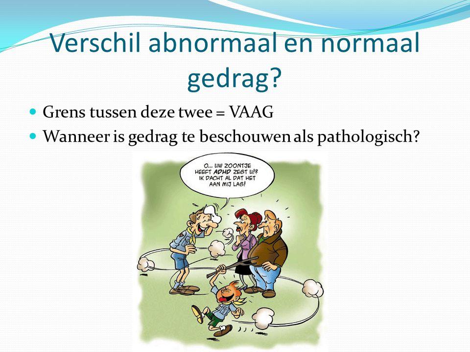 Verschil abnormaal en normaal gedrag.